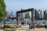 Vancouver_127_07312017 - Another look back at the archway fronting the totem poles looking towards the skyline of downtown Vancouver
