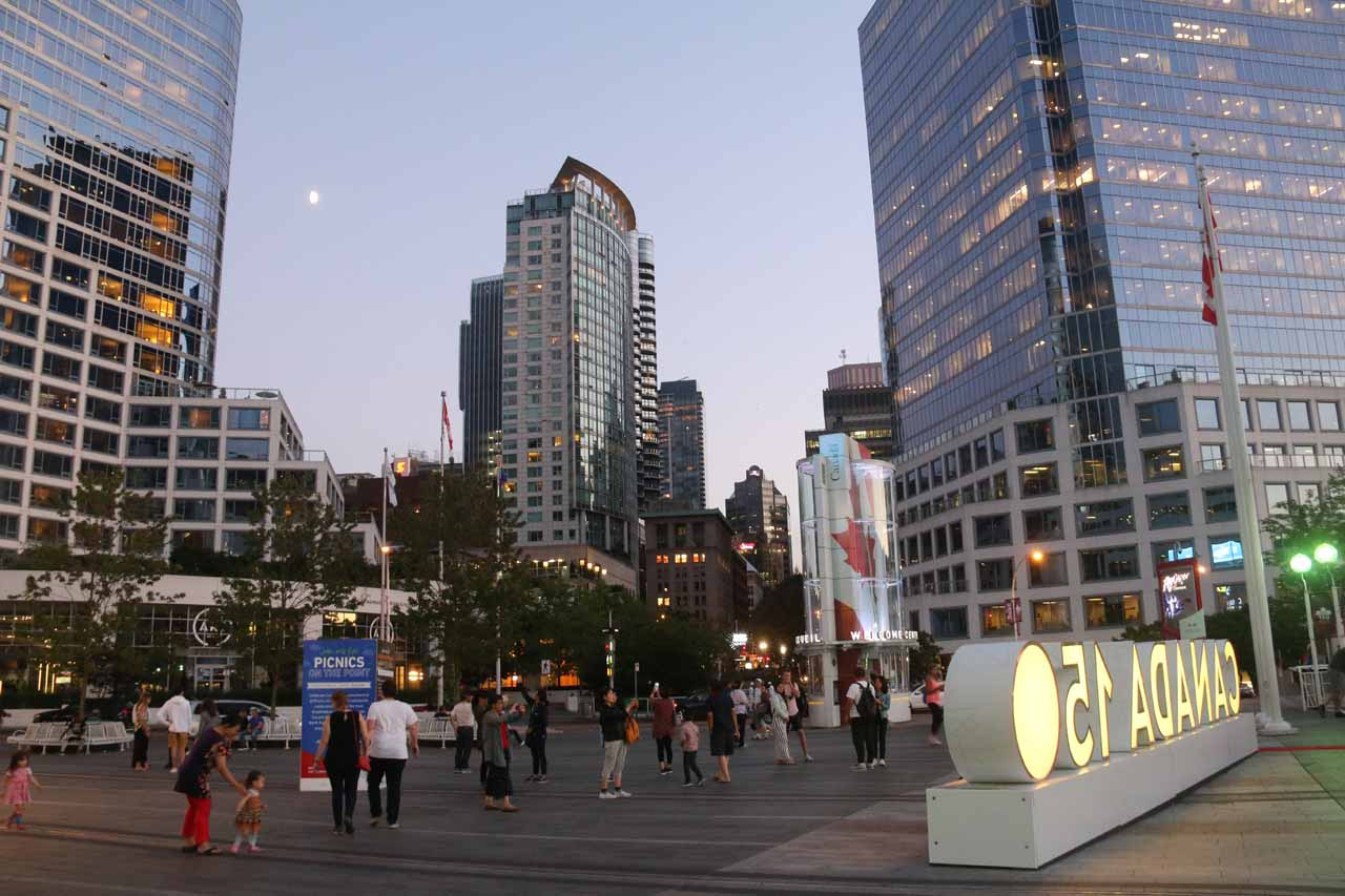 Vancouver boasted a lot of activities, and strolling around the Canada Center by the waterfront near the heart of the city was one such spot