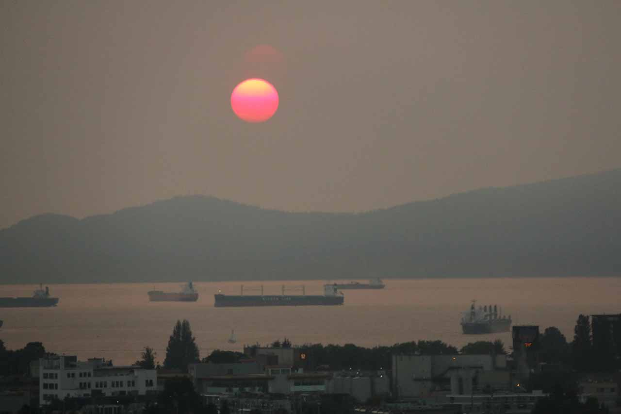 Even though the destructive BC Fires of 2017 resulted in poor air quality and lost structures, it produced some pretty surreal sunsets