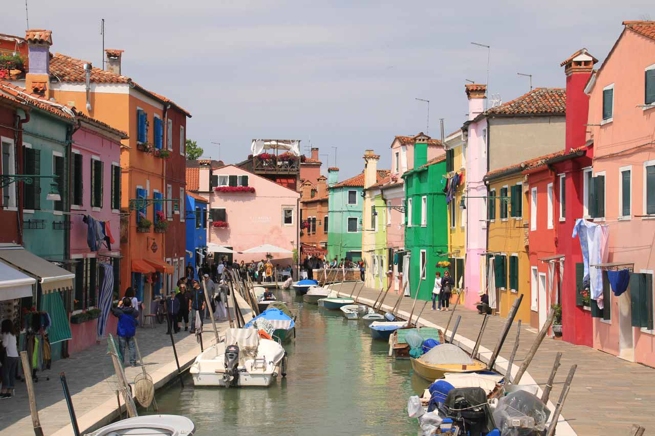 Before we showed up to Trento and the Cascate di Nardis, we had spent time in Venice and Burano. Burano was the island with the colorful buildings around quaint canals