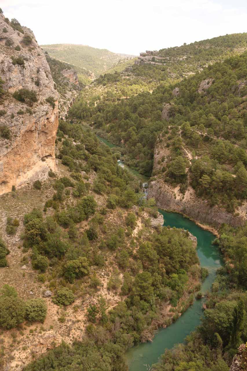 Looking down at the river beneath the Ventano del Diablo