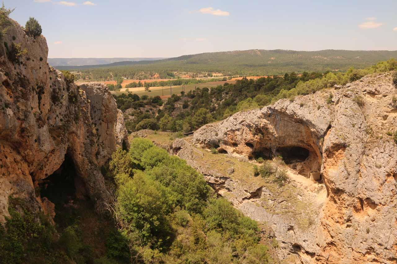 Looking towards the scenery below from behind the Ventano del Diablo