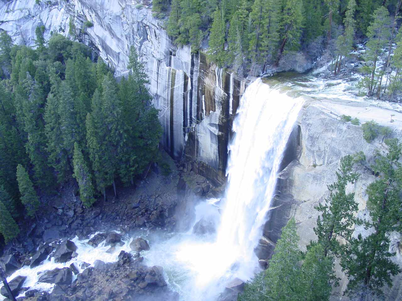 Vernal Fall from below Clark Point