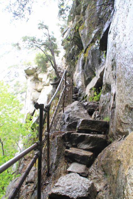 Vernal_Nevada_Loop_042_06032011 - The narrow final climb up the Mist Trail towards the brink of Vernal Fall