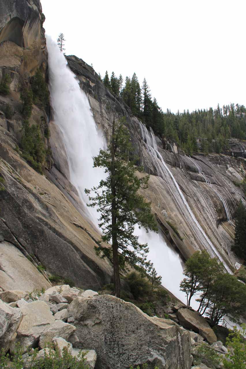 Profile of the waterfall