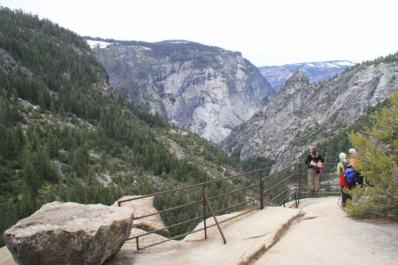 The viewing area for the brink of Nevada Fall