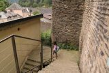 Vianden_Castle_024_06192018 - Tahia making her way down some steps leading into the town of Vianden