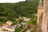 Vianden_Castle_091_06192018 - Looking down towards the entrance of the Vianden Castle as well as some residences neighboring it