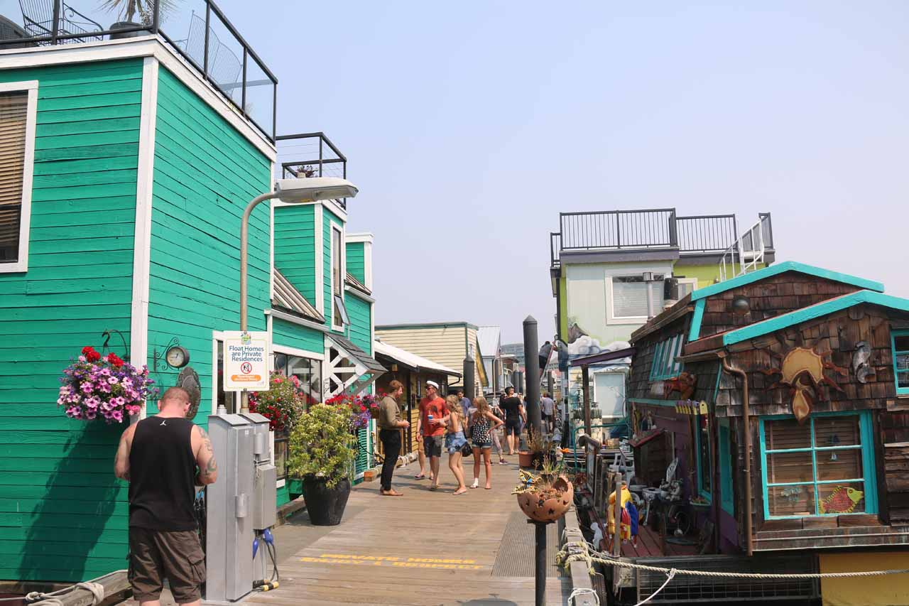 The houseboats at Fisherman's Wharf a bit set back from Victoria Harbour was one of the more surprising highlights of our time spent in Vancouver Island