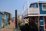 Victoria_BC_474_08032017 - Walking by some of the blue-painted houseboats at the Fisherman's Wharf in Victoria