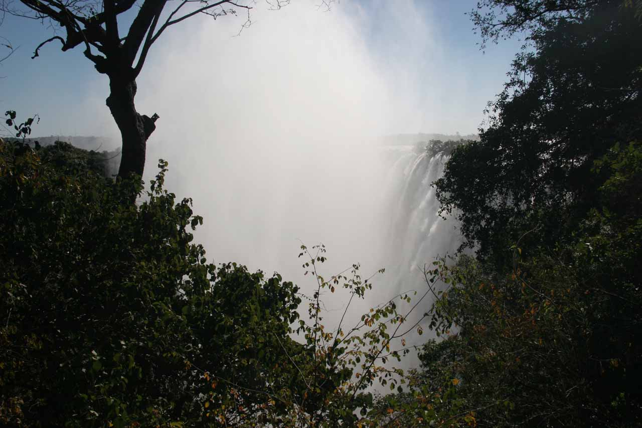 Our first look at Victoria Falls from the Zambia side in the afternoon