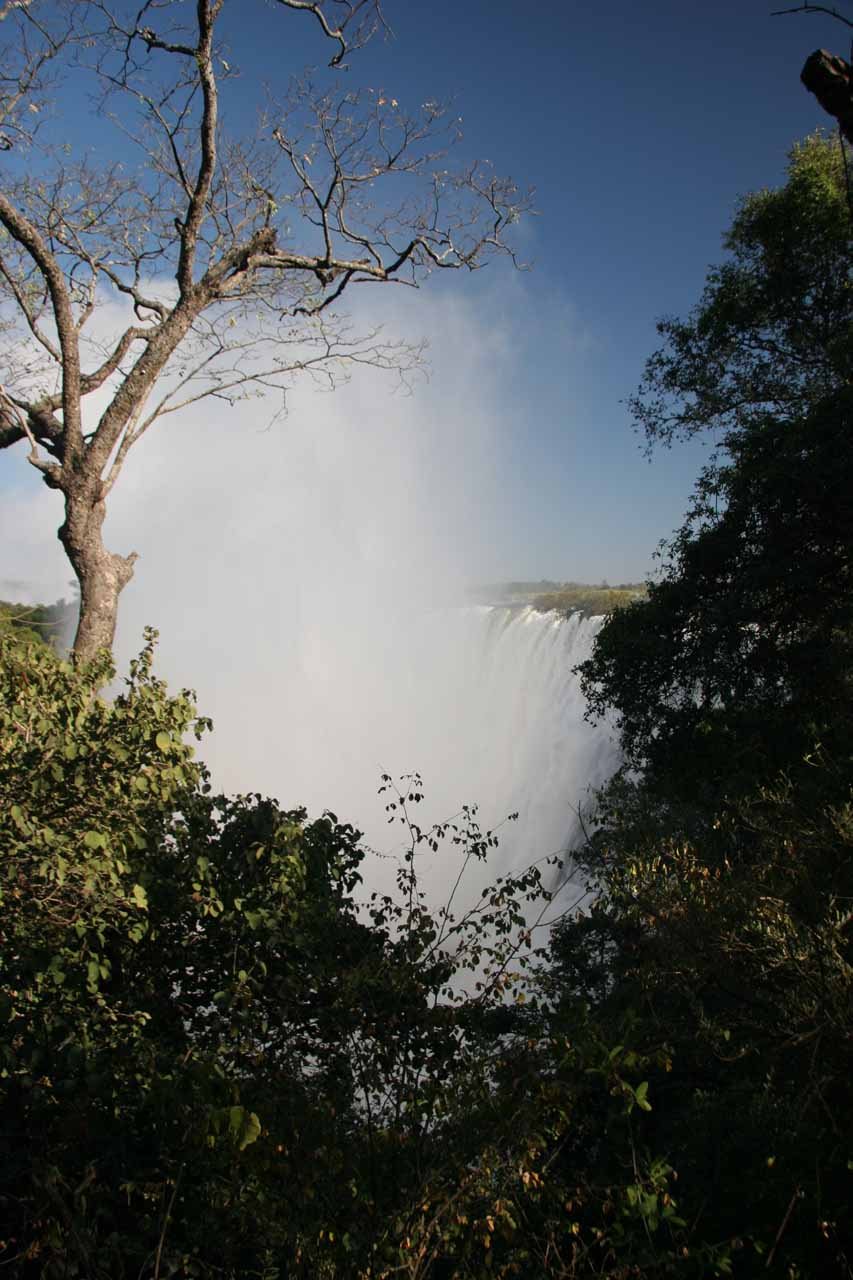 Victoria Falls from the Zambia side in the morning