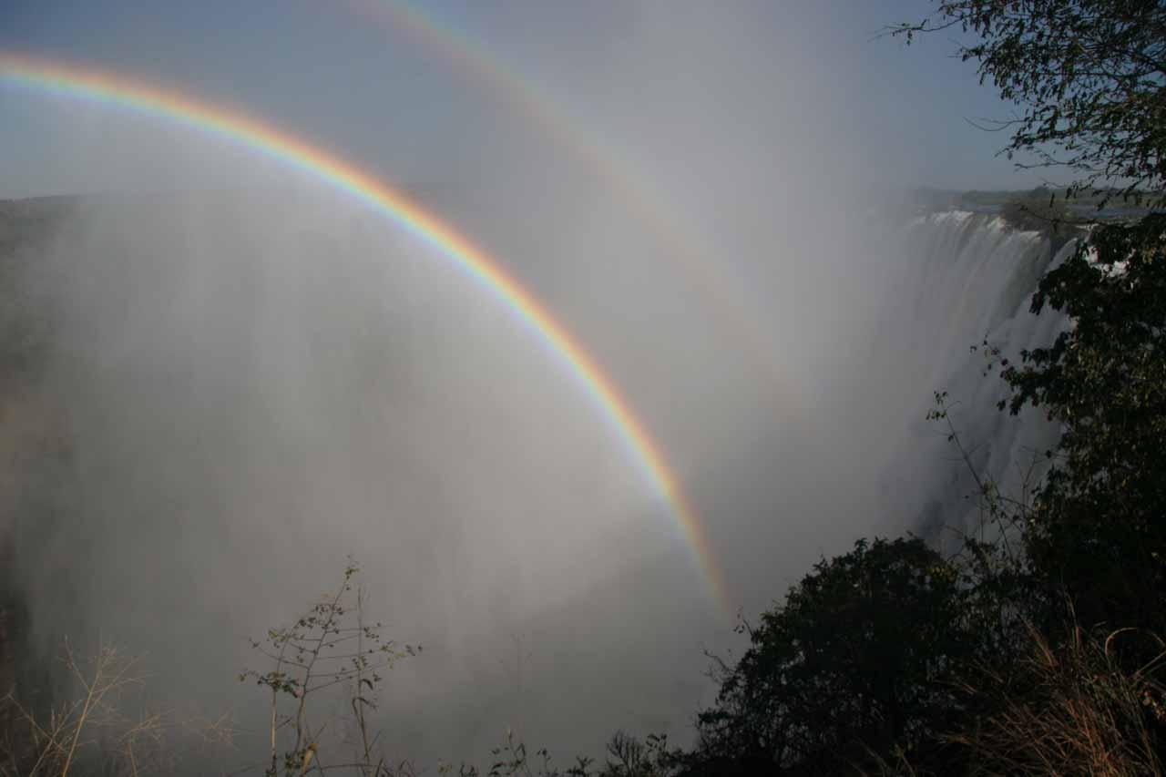 Rainbows in the mist