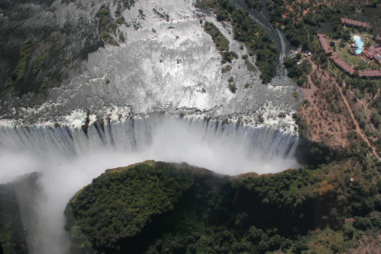 Another aerial look at Victoria Falls