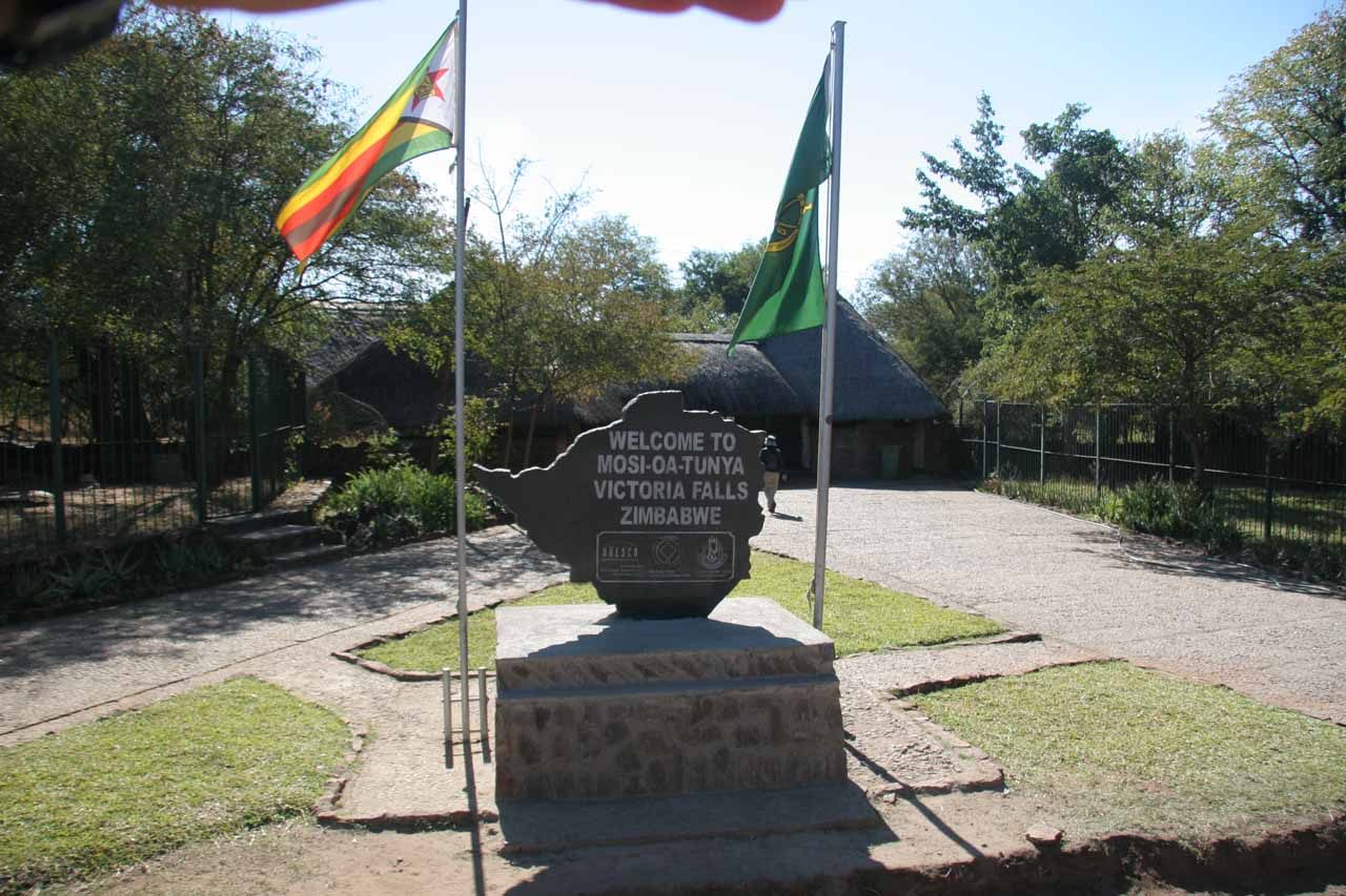 Entering the Zimbabwe side of Vic Falls