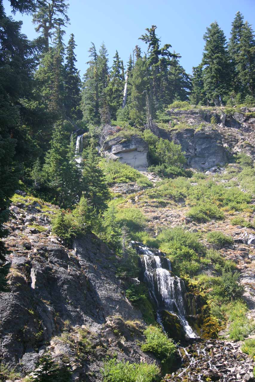 This was an angled look at Vidae Falls from the left side of the roadside pullout shot back in August 2009