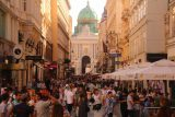 Vienna_033_07072018 - Looking towards the Hofburg Palace along Kohlmarkt or Habsburgergasse in Vienna as it was now pretty much packed with people
