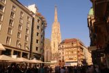 Vienna_066_07072018 - Looking towards the St Stephans Cathedral in Vienna as we were heading down into the U-bahn Station
