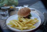 Vik_049_08082021 - Tahia's burger served up at Halldorskaffi