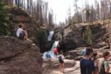 Virginia_and_St_Mary_Falls_084_08062017 - Unlike my first visit to St Mary Falls in 2010, it was a very busy and festive scene the second time around in 2017