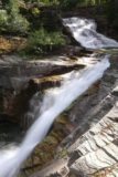 Virginia_and_St_Mary_Falls_099_08062017 - This was one of the intermediate cascades on Virginia Creek, which twisted and tumbled as it fell quite a ways down well below the trail