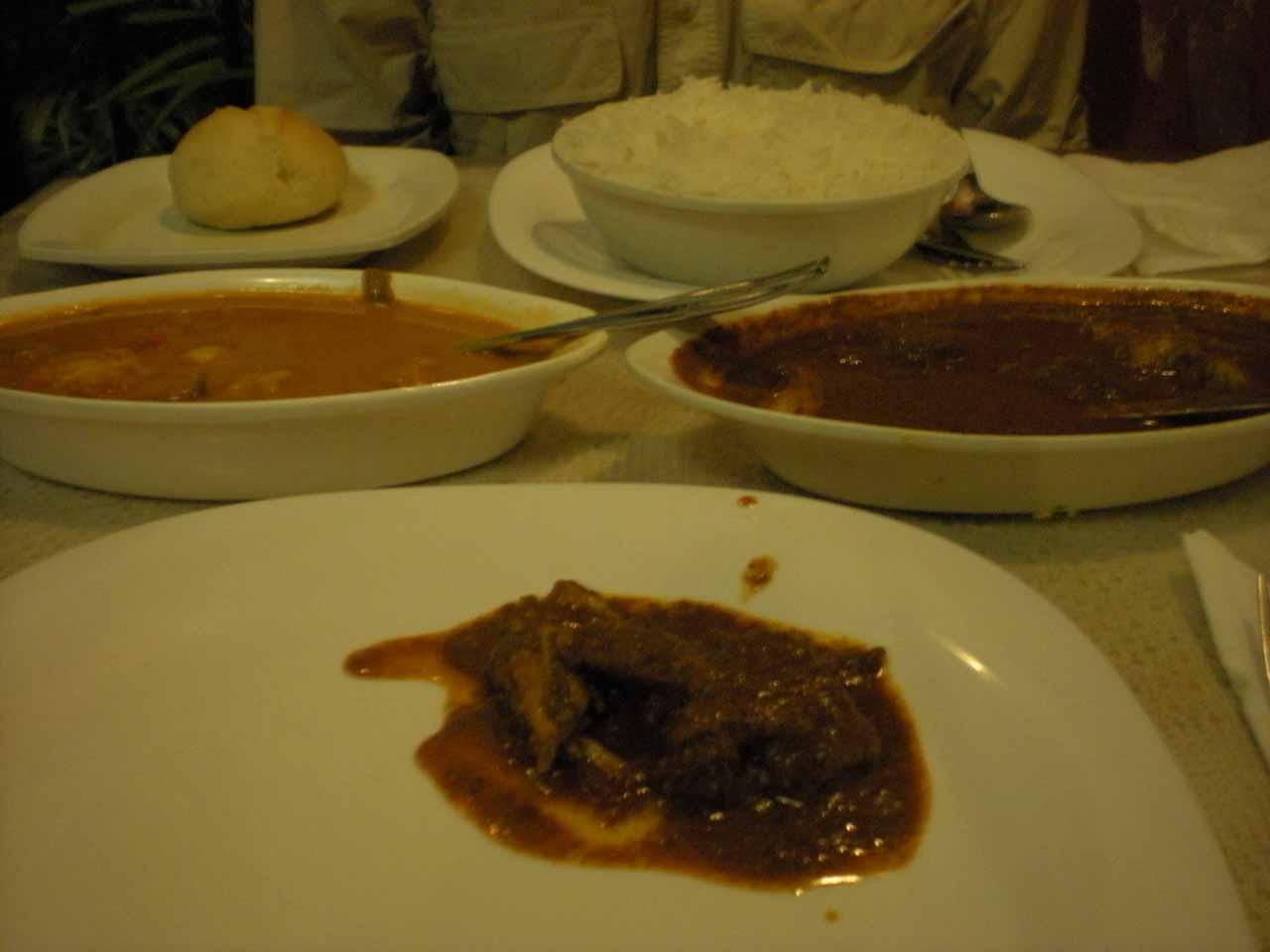 Curry dishes at Viva Panjim