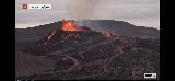 Volcano_webcam_073_iPhone_08212021 - While we were at the Keflavik Airport, we were using up our pre-paid minutes to stare at the Fagradalsfjall Volcano via the RUV.is webcam at Langihryggur and it was even more active than we had seen it before