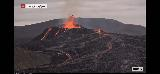 Volcano_webcam_100_iPhone_08212021 - While we were at the Keflavik Airport, we were using up our pre-paid minutes to stare at the Fagradalsfjall Volcano via the RUV.is webcam at Langihryggur and it was even more active than we had seen it before