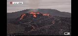 Volcano_webcam_107_iPhone_08212021 - While we were at the Keflavik Airport, we were using up our pre-paid minutes to stare at the Fagradalsfjall Volcano via the RUV.is webcam at Langihryggur and it was even more active than we had seen it before