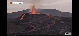 Volcano_webcam_112_iPhone_08212021 - While we were at the Keflavik Airport, we were using up our pre-paid minutes to stare at the Fagradalsfjall Volcano via the RUV.is webcam at Langihryggur and it was even more active than we had seen it before