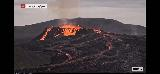 Volcano_webcam_128_iPhone_08212021 - While we were at the Keflavik Airport, we were using up our pre-paid minutes to stare at the Fagradalsfjall Volcano via the RUV.is webcam at Langihryggur and it was even more active than we had seen it before