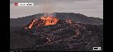 Volcano_webcam_136_iPhone_08212021 - While we were at the Keflavik Airport, we were using up our pre-paid minutes to stare at the Fagradalsfjall Volcano via the RUV.is webcam at Langihryggur and it was even more active than we had seen it before