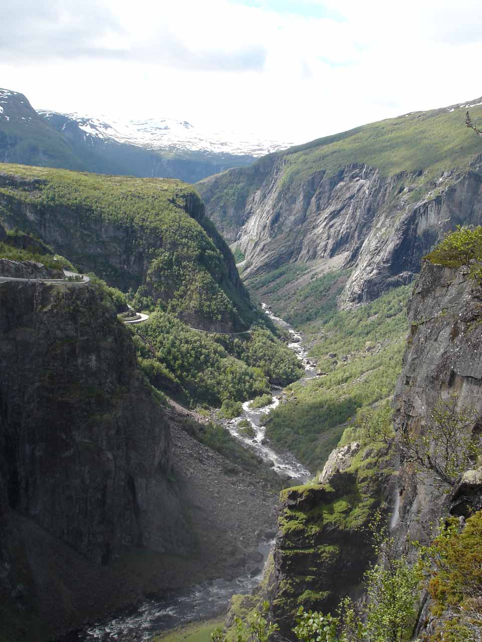 Looking downstream from the Fossli Hotel towards Måbødalen and the Bjoreia River