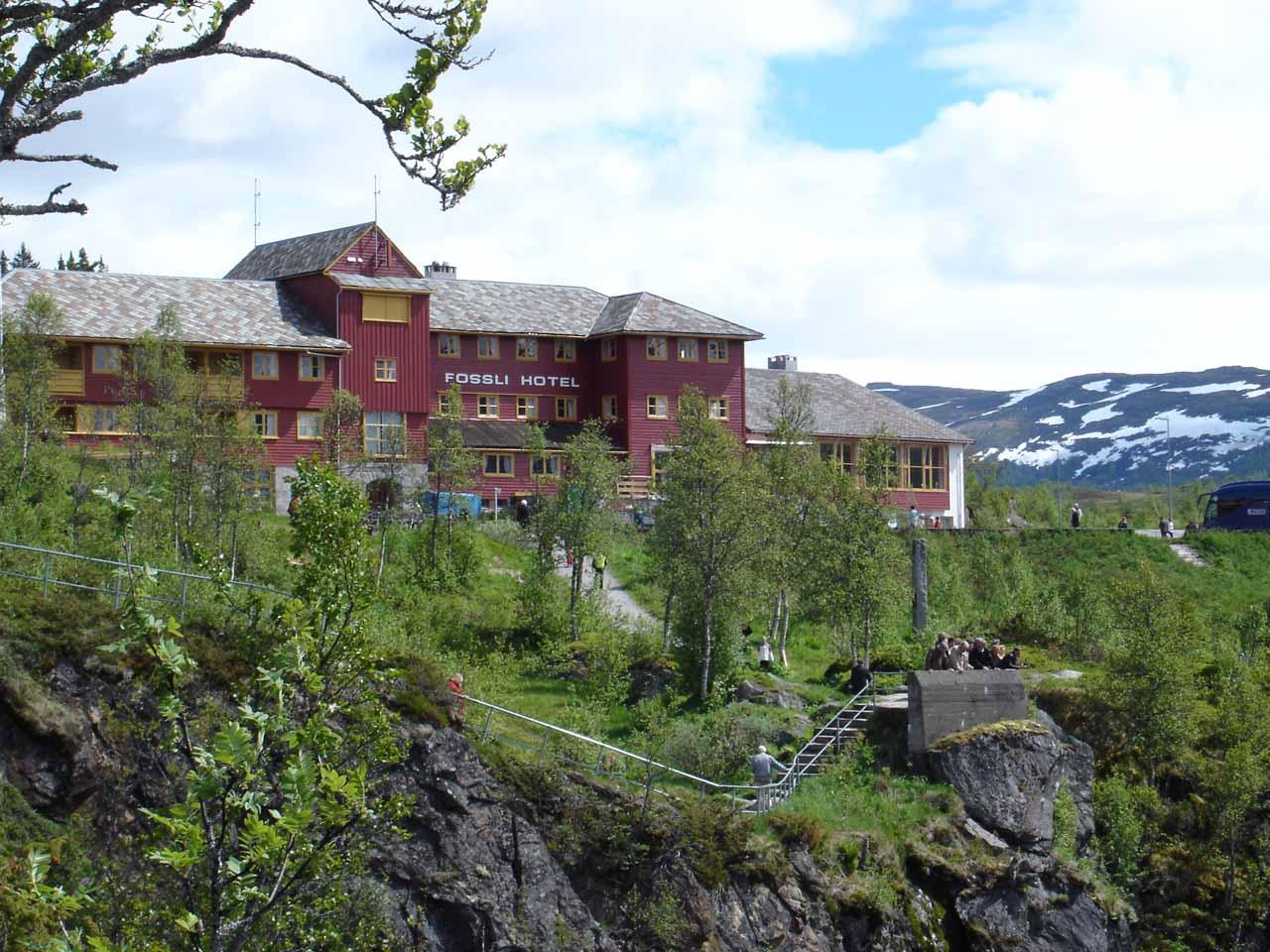 Looking back towards the Fossli Hotel
