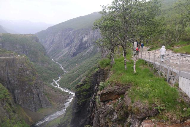 Voringsfossen_068_06242019 - Context of the new railings and improved walkways where it used to be exposed to sheer cliffs on our first visit back in 2005