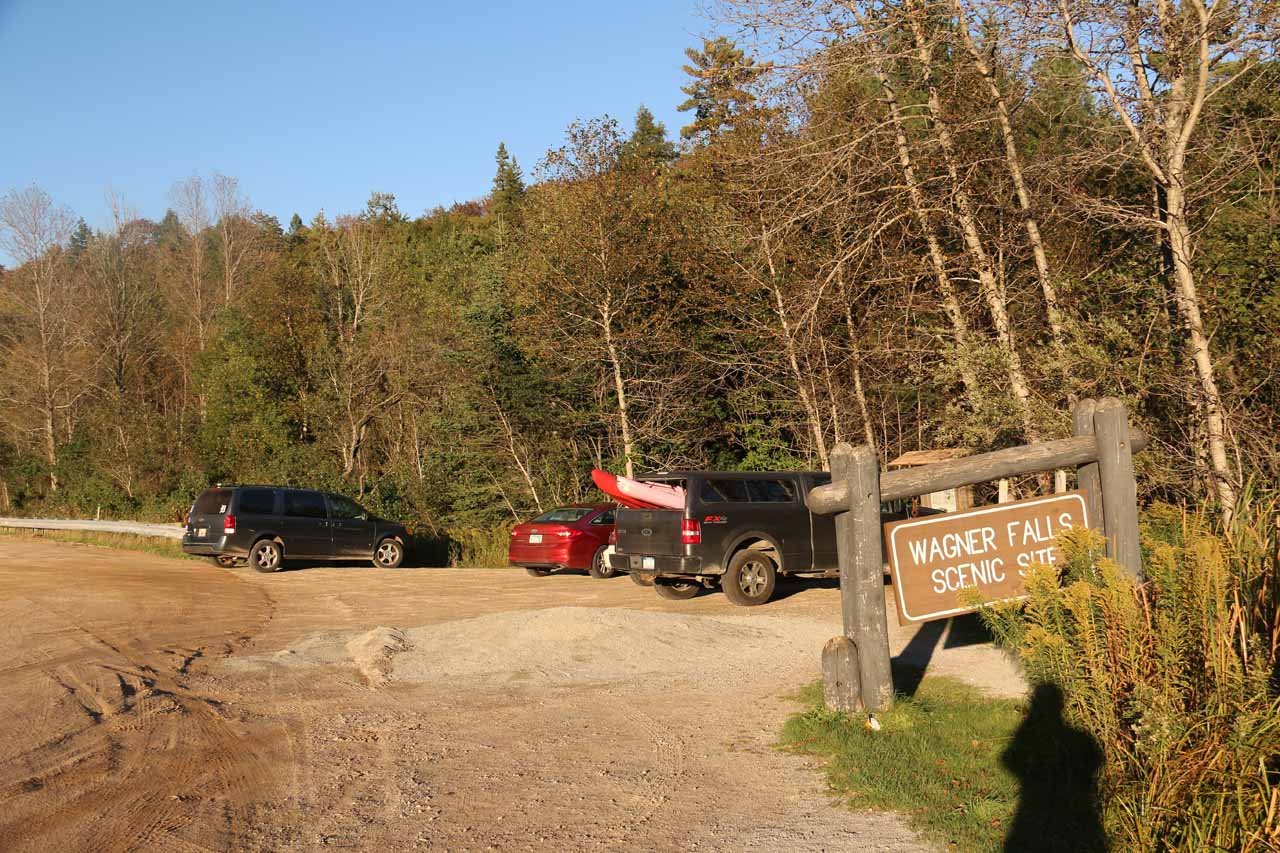 Back at the roadside car park and trailhead