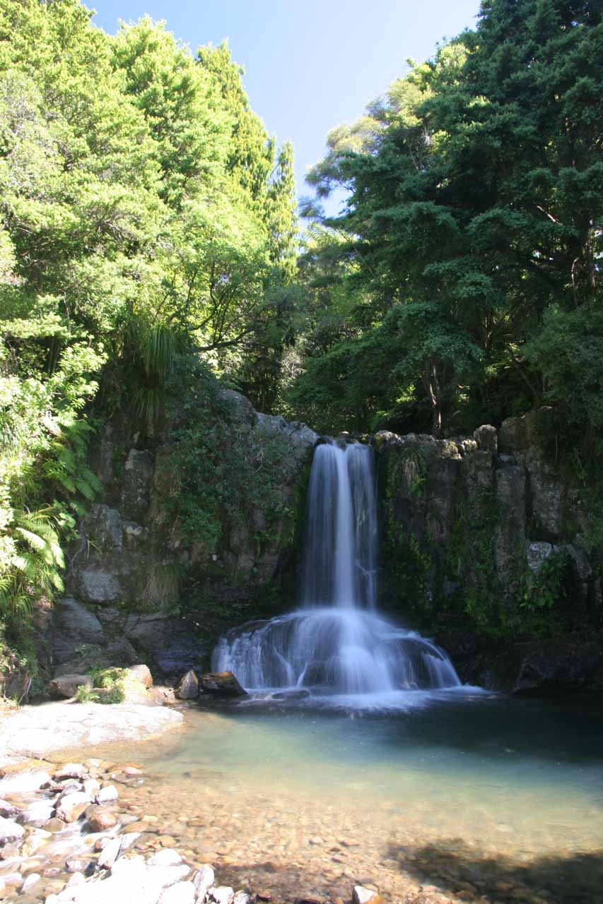 Our first look from the base of Waiau Falls
