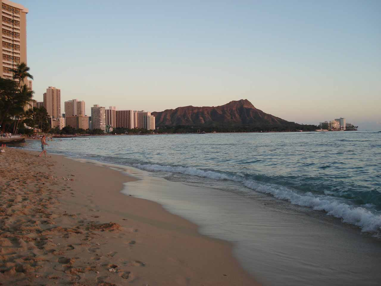 Most visitors to O'ahu would go to Waikiki Beach, and for good reason as there's a long stretch of sandy beach as well as tourist amenities and the Diamond Head Crater watching over all of this