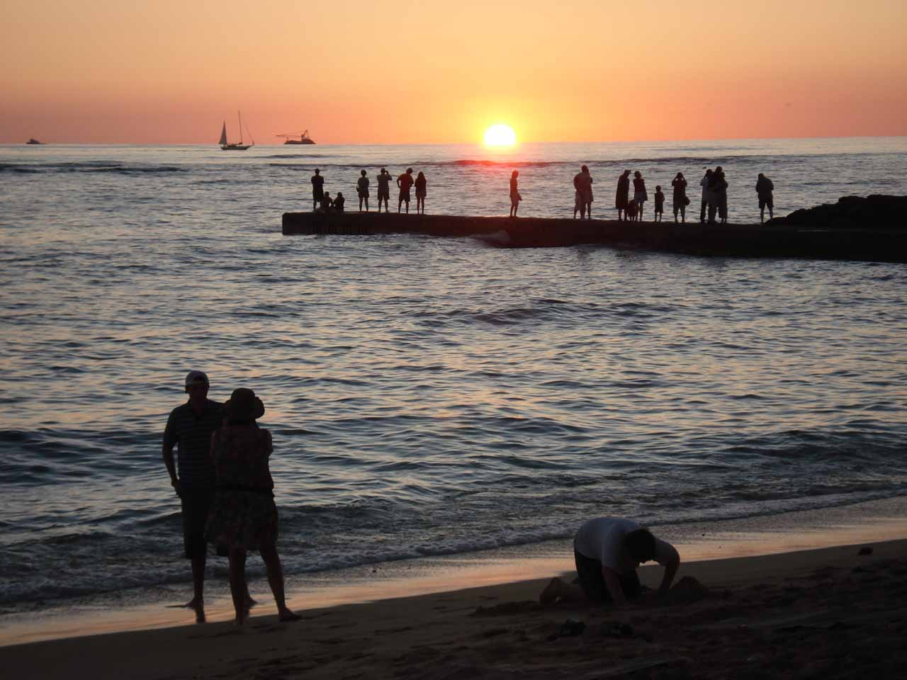 Waikiki is also a great place to catch sunsets