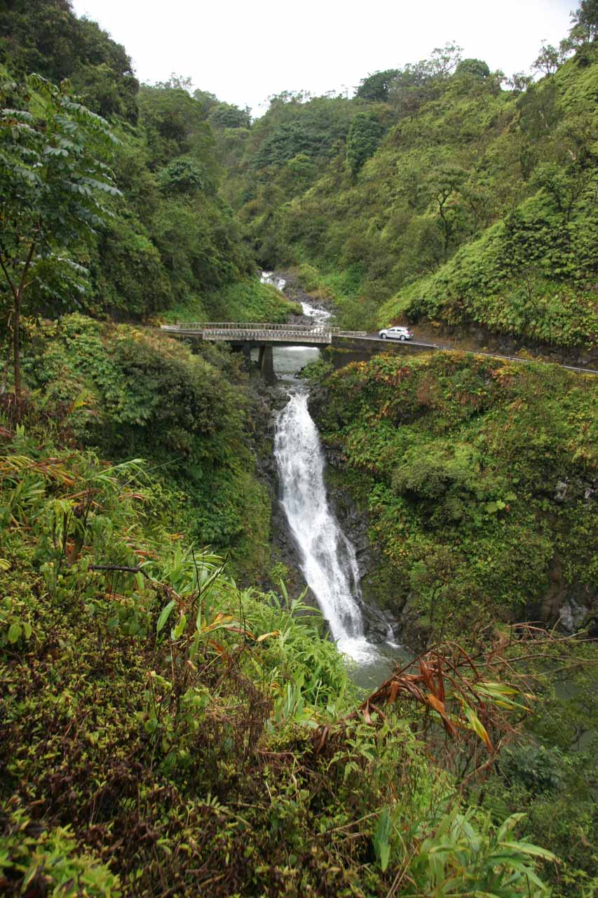 Gorgeous falls on the Wailuaiki Stream below the Hana Highway