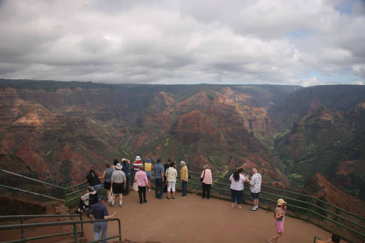 Waimea Canyon was the Hawaiian version of the Grand Canyon, and it's definitely an impressive sight to behold