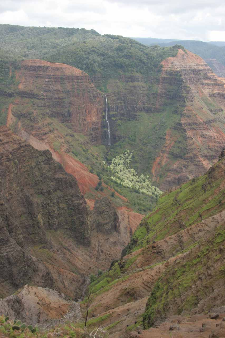 Context of Waipo'o Falls, showing just how beautifully-situated it was as it was nestled within the grand Waimea Canyon