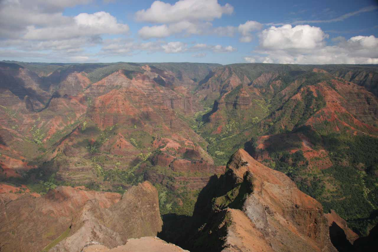 Further to the west on the other side of Kaua'i was Waimea Canyon, which was Hawaii's version of the Grand Canyon