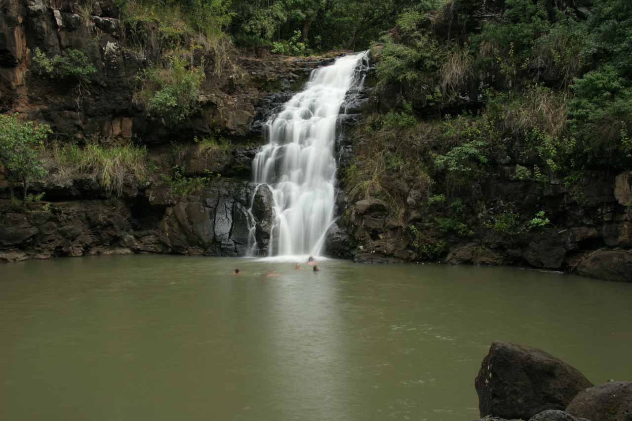 Waimea Falls was one of many other waterfalls that didn't make our Top 10 list, but was certainly worth visiting, especially since it was possible to swim beneath it