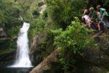Wainui_Falls_058_01012010 - Lots of people at Wainui Falls
