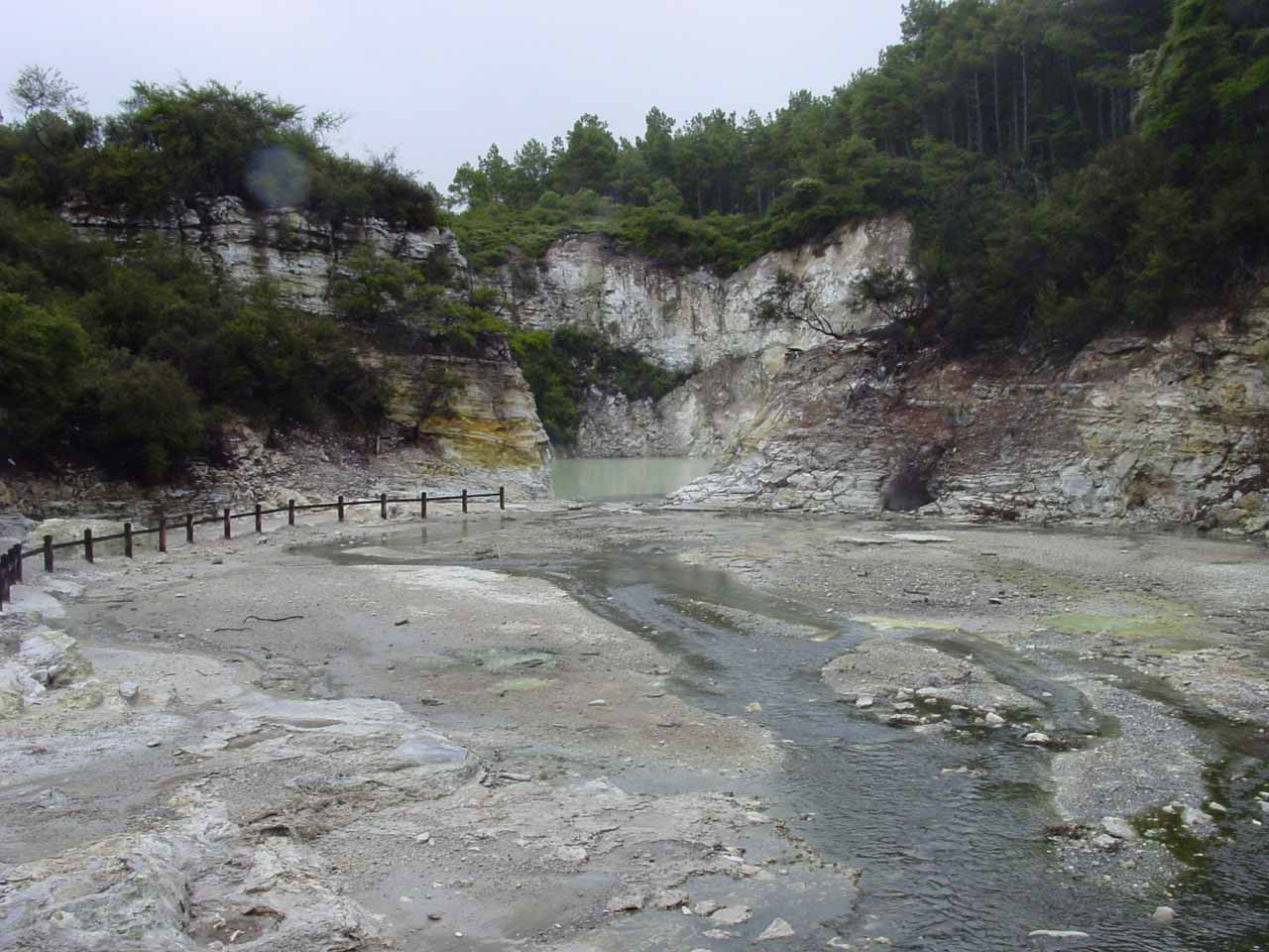 This was probably as far into Wai-o-tapu as we went before retreating to Lady Knox Geyser