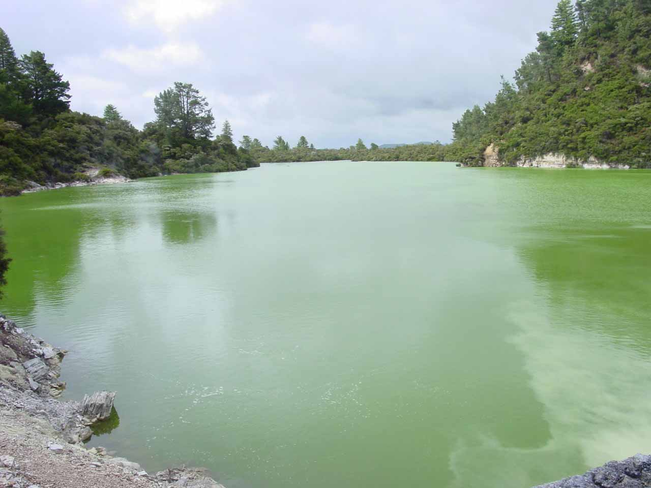 A menacingly calm Sulphur Lake