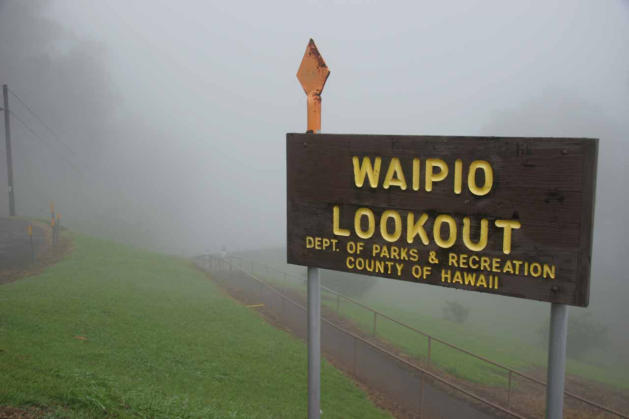 Waipi'o Lookout on a foggy morning
