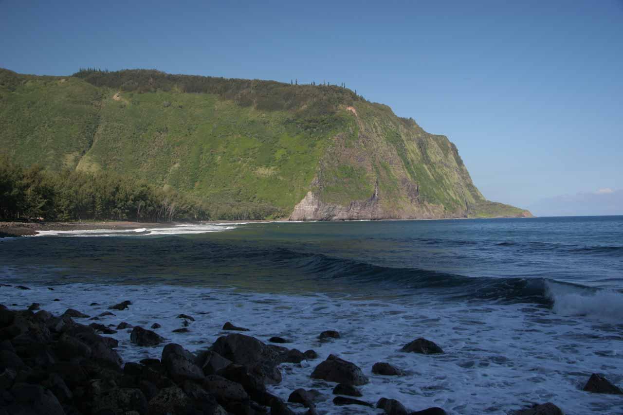 Looking back across Waipi'o Bay