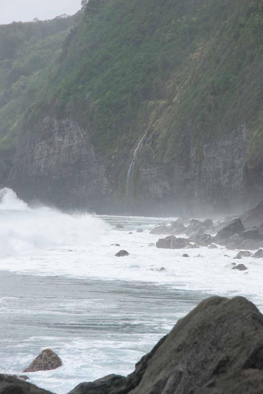 First glimpse of Waiulili Falls